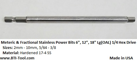 STAINLESS POWER BITS