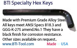 Specialty Hex L-Keys